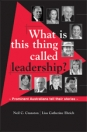What is this thing called leadership? Prominent Australians tell their stories